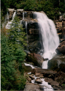 Whitewater Falls.  This photo was taken back in the late 80's.