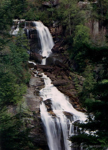 A summertime shot of Whitewater Falls in North Carolina.