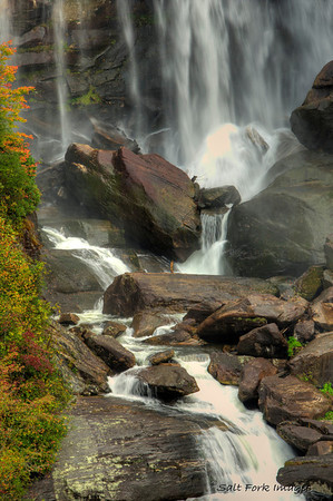 Best of 2012 - Middle detail of Whitewater Falls - Nantahala National Forest, North Carolina