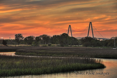 Ravenel Bridge at Sunset - Mt. Pleasant, South Carolina