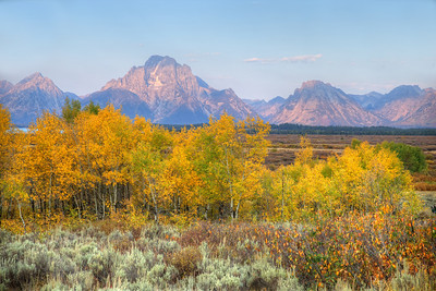 Mount Moran across Willow Flats - Grand Teton National Park