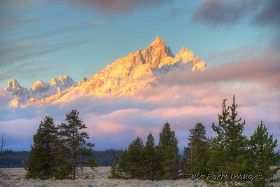 Teewinot at Sunrise - GTNP - Wyoming