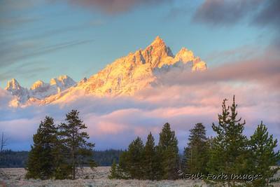 Teewinot at Sunrise - GTNP - Wyoming