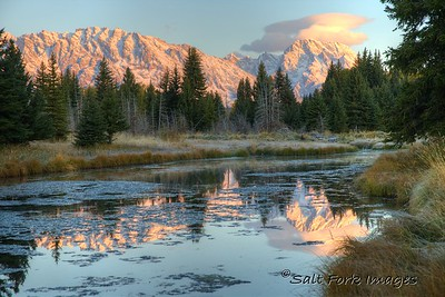 Early morning in Jackson Hole, Wyoming