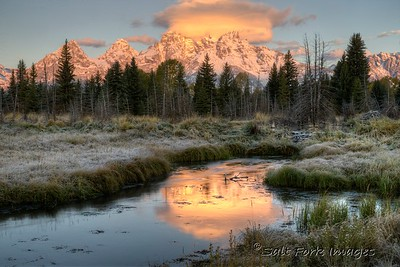Sunrise at Schwabacker's Landing - Jackson Hole, Wyoming