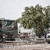 Snowing in Tucson in the RV park
