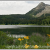 A view of Lost Lake in Colorado in the early morning