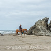 Horse and Rider on Bandon Beach