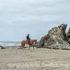 Horse and Rider on Bandon Beach
