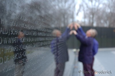 Searching for my old friend....  Viet Nam Memorial
