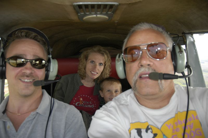 Captain Mark, First Officer Randy, Passengers Raychel and Clay
