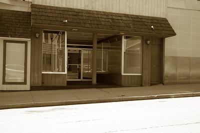 Old Shoe Box store.  Empty!