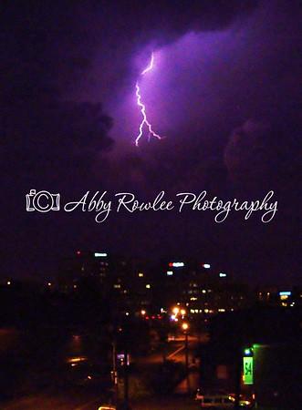 Lightning over Portland, Maine