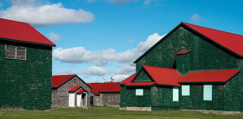 Picton, Prince Edward County. WWII airforce training facility - recently restored for commercial park  purposes