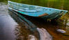 Abandoned boat,  near Hogs Trough, Oxtongue River, Aug 12, 2012