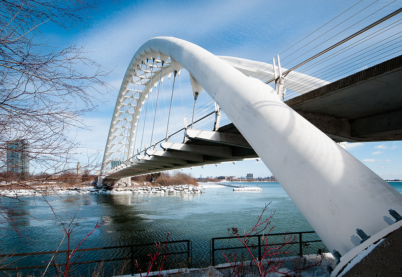 Humber River Pedestrian Bridge - on a very cold winter morning!