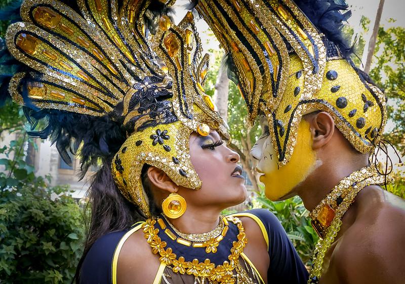 Chilean dancers in Havana for a festival.