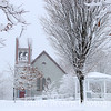 Danville Green in Snow