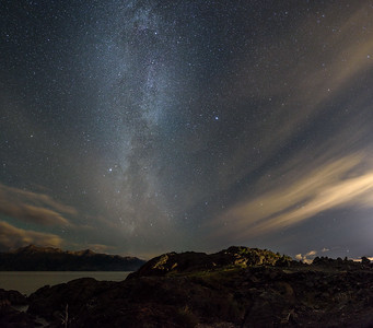 Milky way over Beluga Point