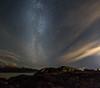 Milky way over Beluga Point