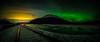 City lights meet Northern Lights
