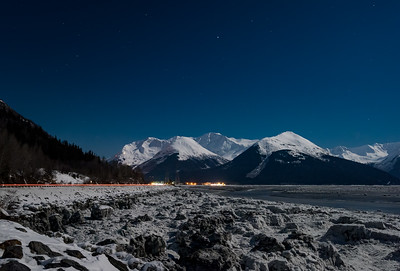 Light trail to Girdwood