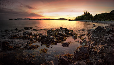Sunset on Baranof island