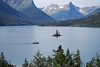 Wild Goose Island in St. Mary Lake, Glacier NP Montana. It is the most photographed subject in the Park.