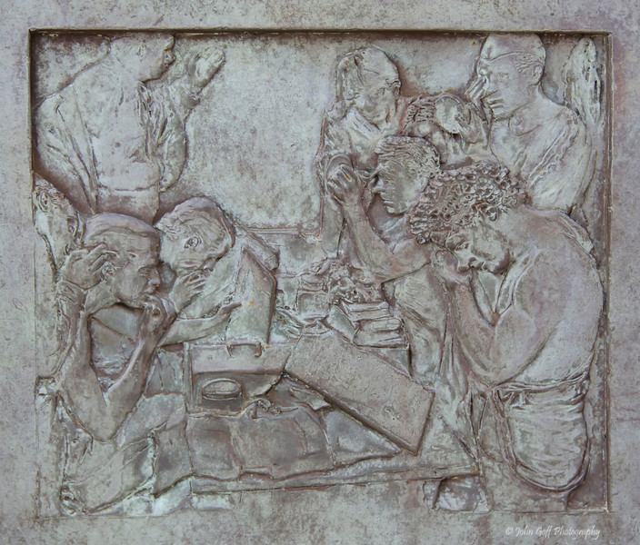 What<br /> Carving at Franklin Roosevelt Memorial<br /> Washington D.C.