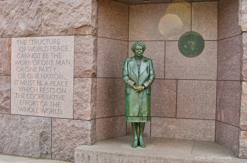 Eleanor Roosevelt<br />  Franklin Roosevelt Memorial<br /> Washington D.C.