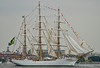 NVE CISNE BRANCO Leaving Baltimore<br /> Brazilian Navy <br /> Star Spangled Sailabration Fort McHenry National Monument