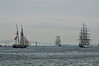 4 Tall Ships Leaving Baltimore<br /> Star Spangled Sailabration Fort McHenry National Monument