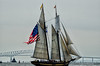 Pride of Baltimore Leaving Baltimore at the Bridge<br /> Star Spangled Sailabration Fort  McHenry National Monument