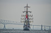MEN ON THE SAILS LEAVING BALTIMORE<br /> Star Spangled Sailabration Fort  McHenry National Monument