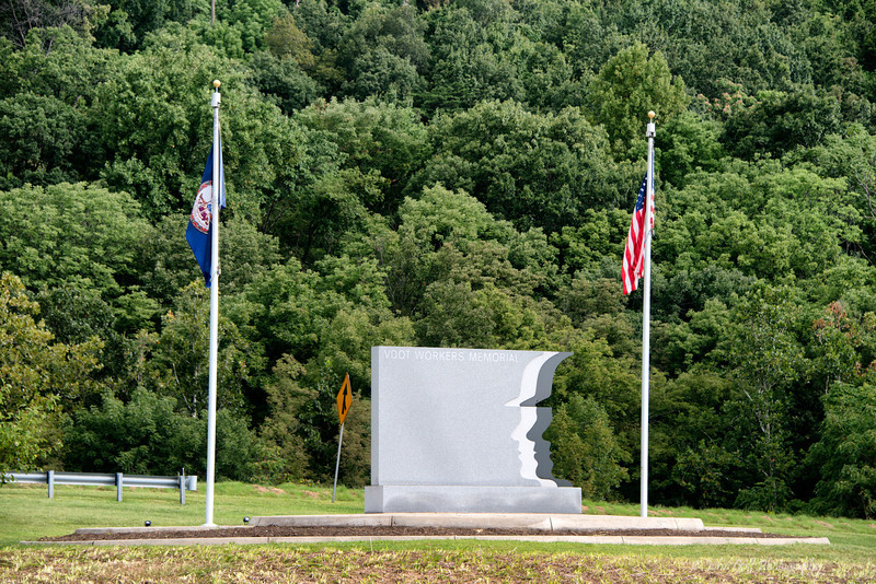Virginia Department of Transportation Workers Memorial<br /> Built near Afton Mountain Virginia on I-64 eastbound