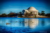 Ice On The Basin<br /> Washington DC Monuments