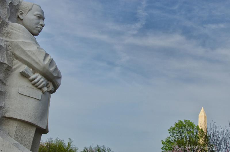 Two Greats<br /> Martin Luther King Jr Memorial & Washington Memorial<br /> Washington D.C.
