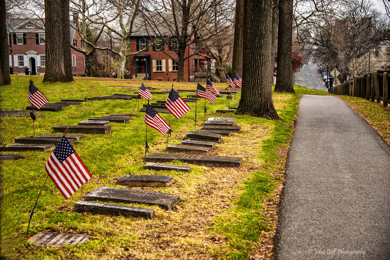 A Row Of Remembrance<br /> Moravian Church Cemetery<br /> Bethlehem Pennsylvania
