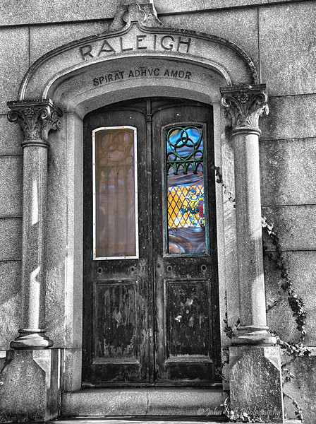 Painted Window<br /> Loudon Park Cemetery <br /> Baltimore, Maryland