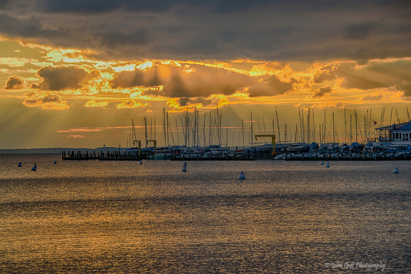 Shining Down On My Boat<br /> <br /> Annapolis City Dock Sunrise<br /> Annapolis, Maryland