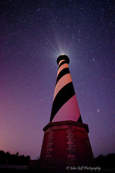 Pink Light Night<br /> Cape Hatteras, North Carolina
