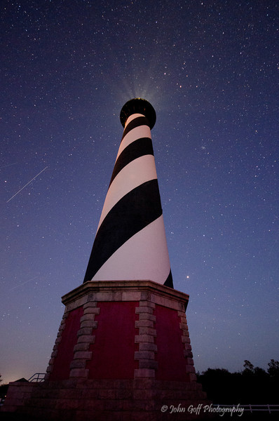 Stars Over A Lighthouse<br /> Cape Hatteras, North Carolina