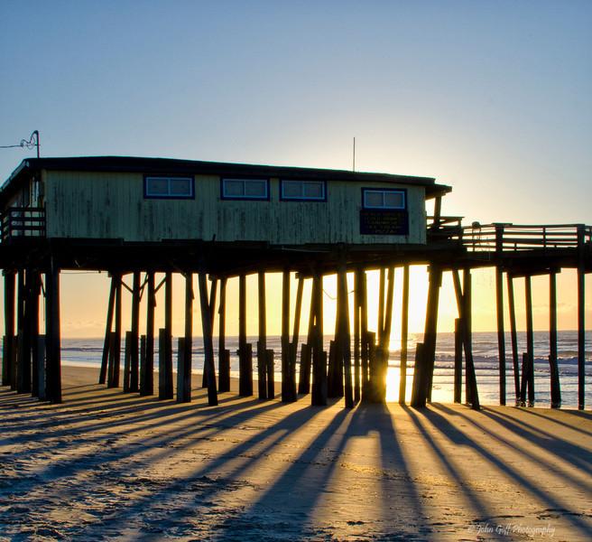 Shadows at Sunset<br /> Cape Hatteras, North Carolina