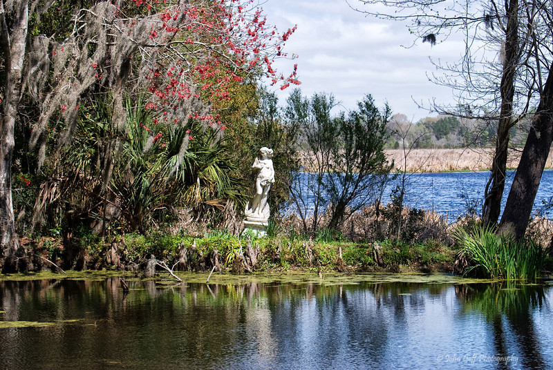 Leaning Statue<br /> Magnolia Plantation<br /> Charleston, South Carolina