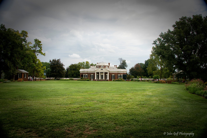 Monticello From Afar<br /> Plantation of Thomas Jefferson<br /> Charlottesville, Virginia