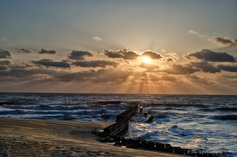 Sun over Water<br /> Cape Hatteras, North Carolina