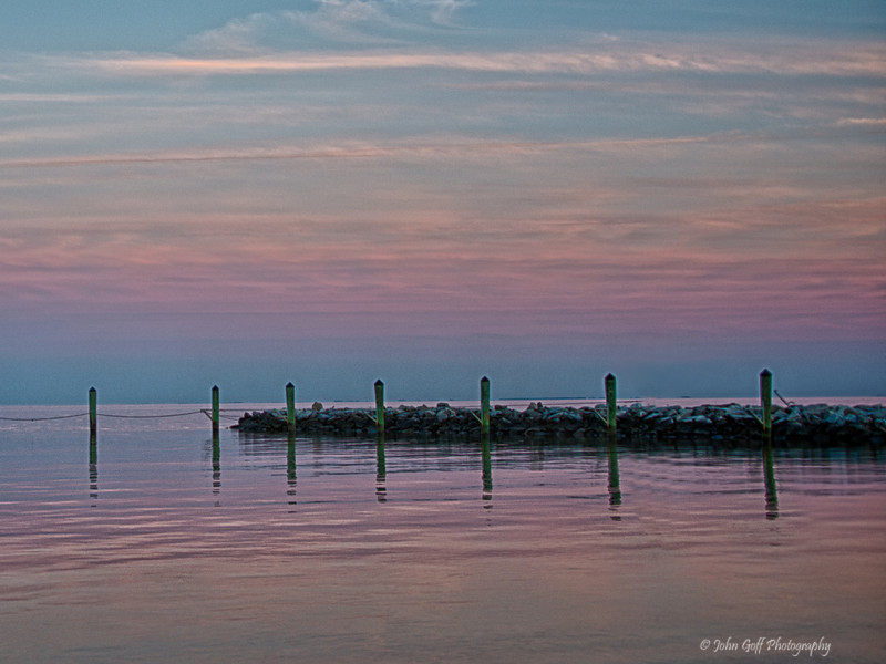 Violet Sunset<br /> Moon Rise,  <br /> North Beach,  Maryland