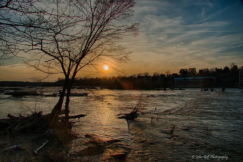Sunset On The James River<br /> Richmond, Virginia
