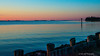 Ships In The Distance<br /> Sun Rise Over Chesapeake Bay Bridge<br /> Annapolis Maryland