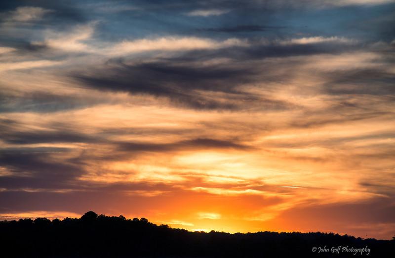 Sun set over Assawoman Bay<br /> Fenwick Island, Delaware